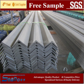 AISI304 hot rolled-pickled stainess steel export quality angle bar factory