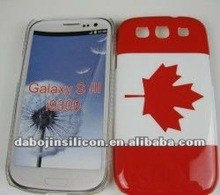 Canada flag phone cover for iphone/samsung Galaxy S3 i9300