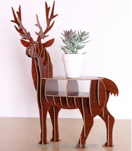 wood stand deer shape home decoration