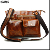 2016 Vintage men's leather shoulder satchel bag