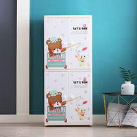 2 Layer baby kids plastic drawer wardrobe cabinet