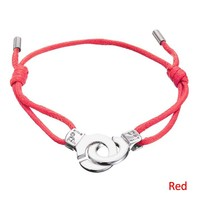 Handcuffs Red Rope Custom Wax String Bracelet( B105904)