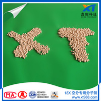 Faster asorption speed for removal H2O and CO2 13X APG type molecular sieve zeolite