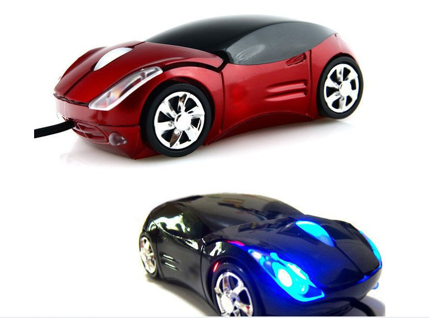 High Quality 1200DPI Car Shape gaming mouse USB 3D Optical wired Mouse for Computer mouse Laptop and desktop A18 free shipping