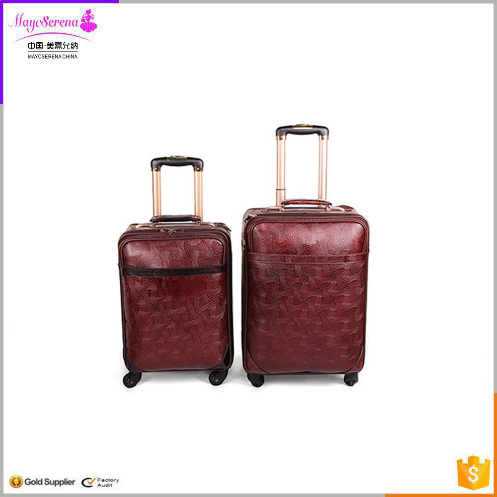 New product aluminium luggage black suitcase girls travel luggage vintage luggage case
