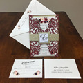 Burgundy Laser Cut Wedding Invitations