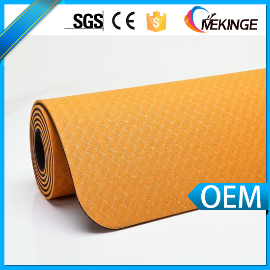 2-tone color tpe yoga mat cover with excellent slip resistance