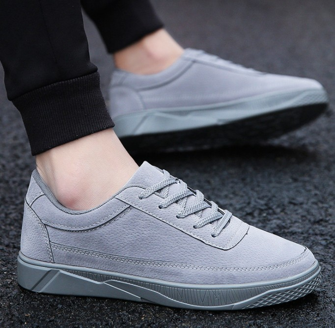UP-0382J Casual suede leather shoes man runniing winter sports shoes for men