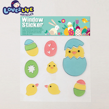 Attractive price new type decoration colorful lovely window gel cling sticker