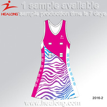 New Design Hot Sale Sublimation Lycra Women Netball Dresses Uniform
