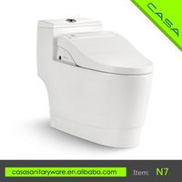 ABS material soft closing with soft night light high quality toilet for the elderly
