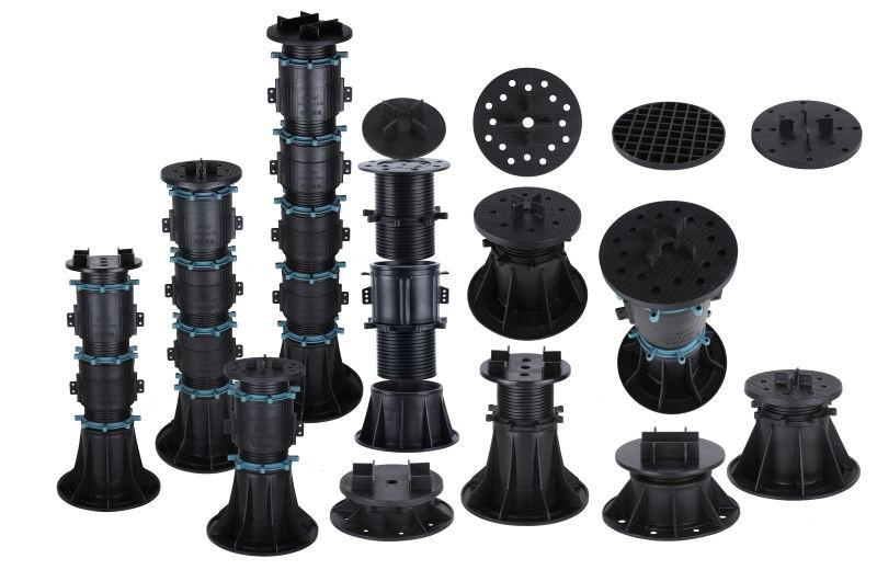 Pedestal Paver System Adjustable Plastic Pedestals Raised