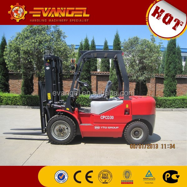 YTO 3 ton diesel forklift cpcd30 price