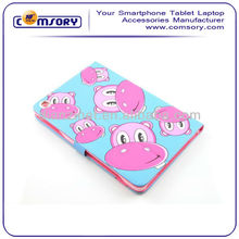 PU leather case with cute cartoon for iPad mini Paypal Acceptable