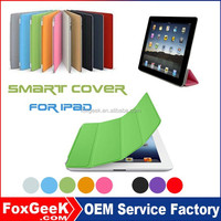 New Fancy Smart Cover for ipad air with unbreakable leather cover magnetic Wake up/ Sleep function
