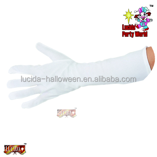 "Lucida party accessories gloves 15"" white polyester gloves for adult"