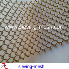 Tianhe exporting architectural metal mesh, woven wire metallic fabric