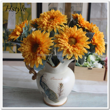 Artificial Sunflower Outdoor Artificial Plastic Flowers For Home And Garden Sunflower FZH149