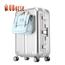 High quality travel luggage bags cases metal suitcase trolley aluminum luggage