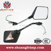 FLYQUICK motorcycle motorbike racing bike side mirror with turn signals light for motorcycle for Suzuki GS125