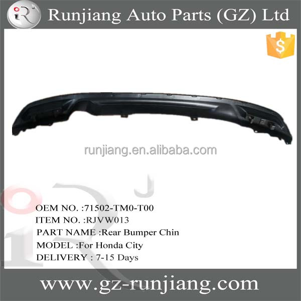 71502-TM0-T00 abs plastic auto rear bumper chin for Honda City 2012 body kits