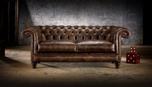 Lavita Furniture English Standard Rochester Chesterfield Leather Sofa Set 1+2+3 or 1+1+3