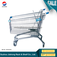 Heavy duty metal europe shopping trolley cart with baby seat