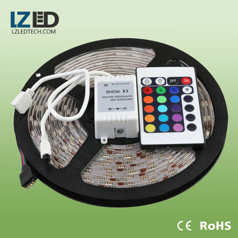 30 , 60leds 5050 flexible waterproof rgb led strip 24v , 12v with CE listed