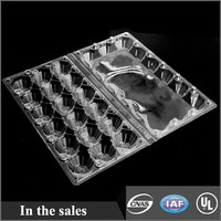 plastic clamshell egg packing 18packs