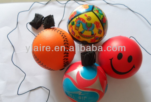 Promotional toy ball! pu ball with elastic string