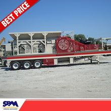 Free shipping heavy mobile equipment, construction waste recycling plant, sand portable crushing plant
