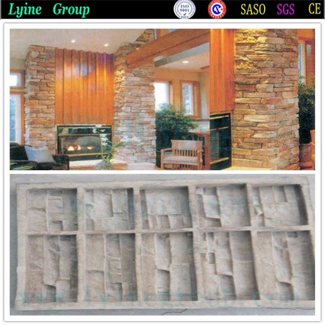 2016 Unique Styles Culture And Veneer Concrete Stone Silicone Mould For Barriers Tiles Blocks Decorative Wall