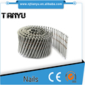 15 Degree Wire Collation Galvanized Pallet Coil Nails, painted or polished coil nails for pallet