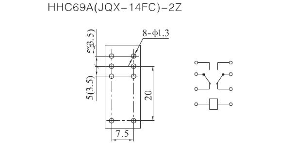 JQX-14FC PCB Relay