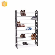 10 Tiers 50 Pairs Space Saving Shoe Rack Shoe Storage Tower Organizer( FH-SR00611)