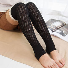 New arrival cotton leg warmers lace decorating upper lady fashion cotton knee high socks