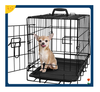 "43"" Large Dog Kennel w/ Wheels Portable Pet Puppy Carrier Crate Cage Heavy Duty"