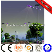 160W photovoltaic IP66 solar street light pole with 5 years warranty