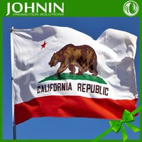 Hot selling 3X5 california state polyester flag