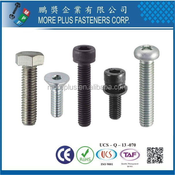 Made In Taiwan Socket Head Thin Cap Screw M8 Socket Head Cap Screw Socket Countersunk Head Cap Screw