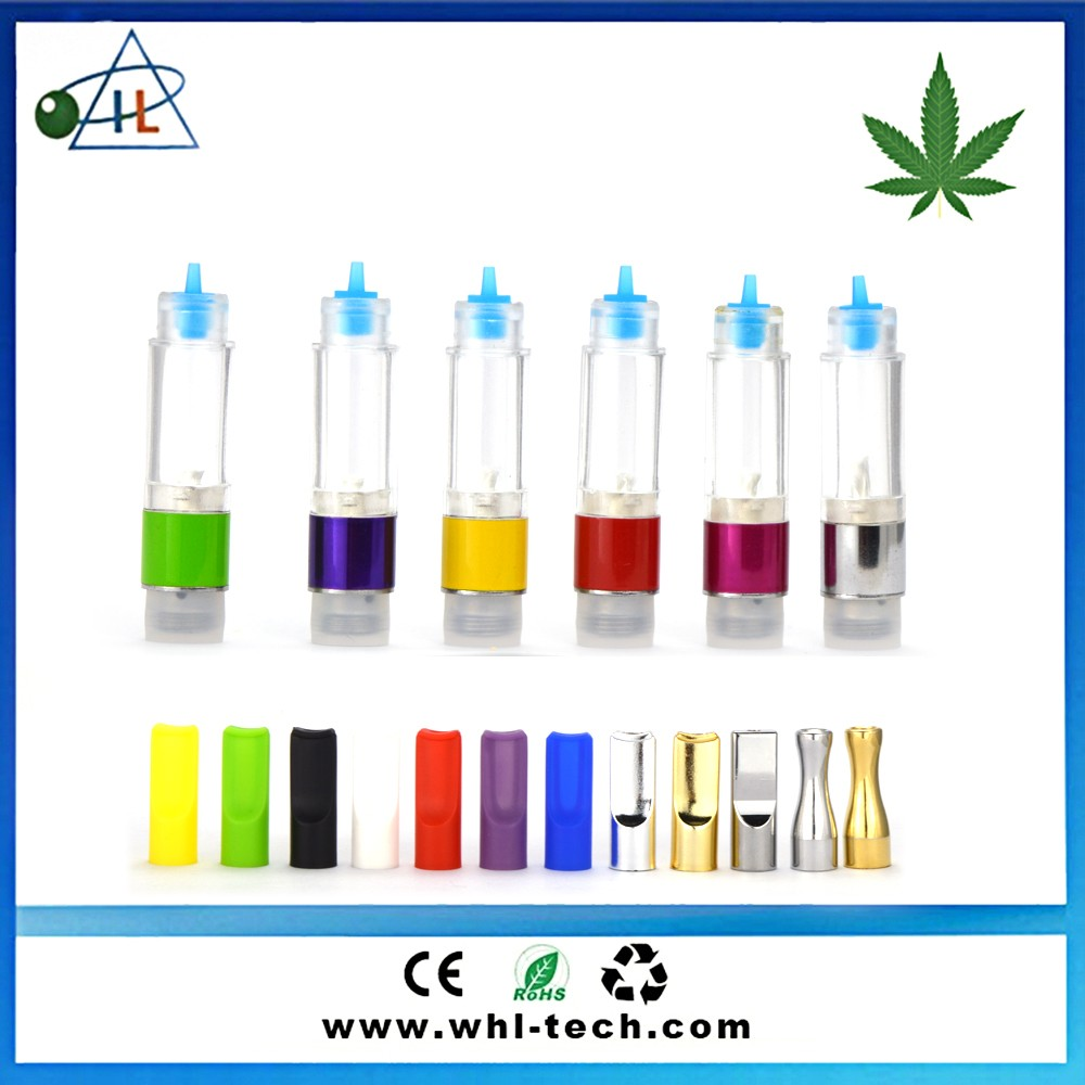 New products Slim E Cigarette 510 Atomizer O.pen cbd vape for thick Co2 oil clear tube pack