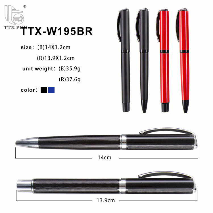 Promotional Executive Gift Good Quality Metal Roller Pen And Ball Pen Set With Box