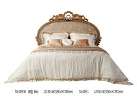 luxury neoclassic french white wood bed