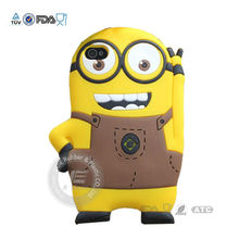 2013 JE cute papa silicone phone case / silicon cell phone case for samsun galaxy y