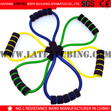 8 shape Latex Resistance Band for Exercise/body building equipment /body action system