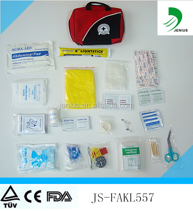 Ultra-Light & Small 100 Piece First Aid Kit w/ Unique Items for car,camping,travel,school