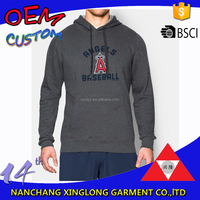 2016 Newest design printed kangaroo pocket men pullover sweater