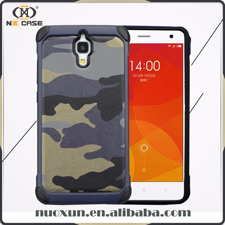 Guangzhou latest camouflage style smart cover case for xiaomi