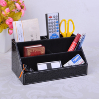 fashion faux leather desk organizer for home and office