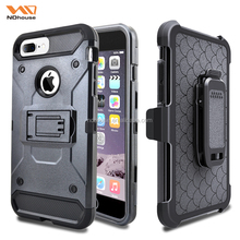 New arrival phone case for Apple iphone 7 plus 4 in 1 shockproof hybrid super case